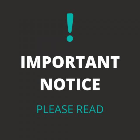 Important Notice Please Read