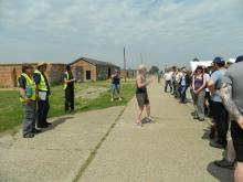 Volunteer Training at Stow Maries Aerodrome. Photo: Essex Wildlife Trust.