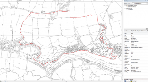 Example of Essex Wildlife Trust Reserve boundary data - click to enlarge